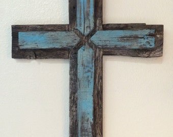 Rustic Barnwood Cross