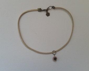 Handmade Brown Turkish Eye Charm Choker Necklace
