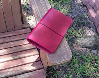 Standard Tahitian Moon Travelers Notebooks, Fauxdori, Leather Travelers Notebooks, Crisdori Studios