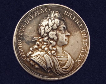 Great Britain, Official silver Coronation medal of King George I, date 1714