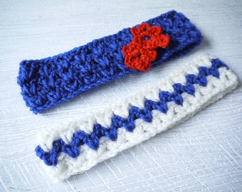 Set Of Two Matching Hand Crocheted Headbands