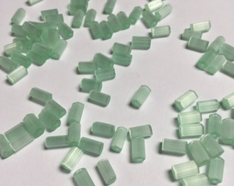 Glass Satin glass Beads in Mint Green - 100 pieces - #554