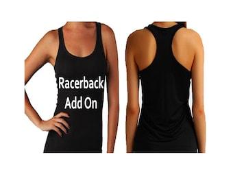 Beautifully Black Racerback Tee Add On