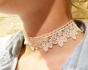 Chocker, lace chocker, necklace
