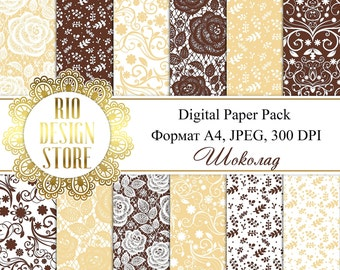 Digital Paper Pack, Background, Instant Download