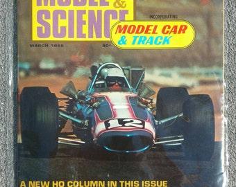 Vintage March 1968 Model Car & Science Magazine