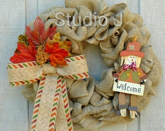 Scarecrow Welcome Wreath
