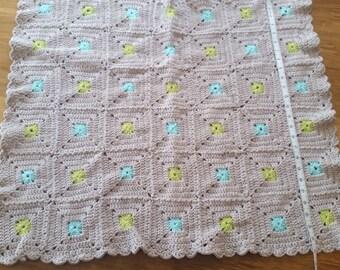 Baby boy blanket, Crochet Baby Blanket, Baby Blanket, Boy blanket, Granny square baby blanket, Nursery gift, Granny baby blanket