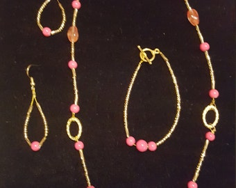 Pink and gold set