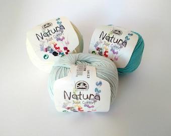 DMC Natura Just Cotton, 50g balls, 100% Cotton, 60 different colors, Knitting, Crochet