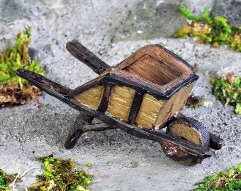 Little Woodland Wheelbarrow ~ miniature enchanted fairy garden
