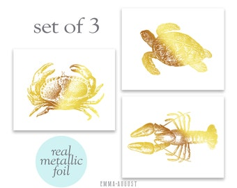 "Beach Decor Wall Art- Set of 3 - Beach Decor - 8 x 10"" Limited Edition Print"