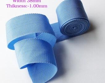 38mm sky blue  color strong  polypropylene webbing strap