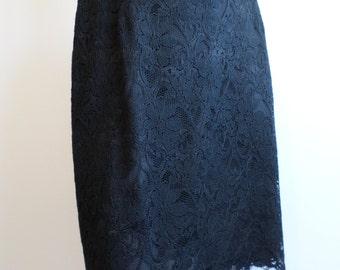 Isaac By Isaac Mizrahi Black Lace Pencil Skirt