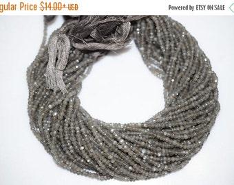 45% OFF Good Quality Gray Moonstone Rondelle Beads 13 Inch Strand ,Gray Moonstone Faceted Rondelle Beads , 3-3.75 mm - MC405