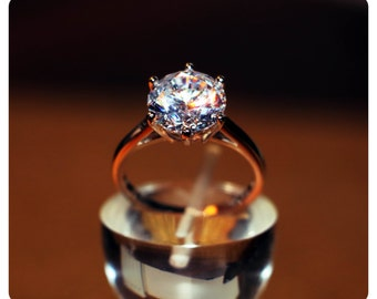 Solitaire Stunning 3.5ct equivalent AAA cz