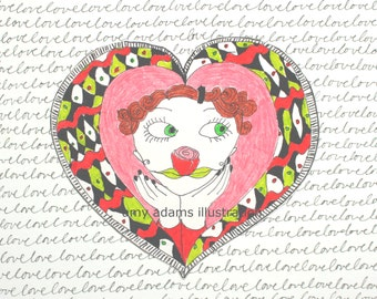 valentines day, i love you, sweetheart card