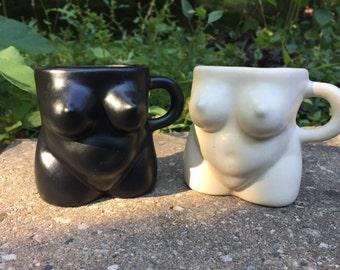 Naked Lady - Boob Mug - Woman Mug - Modern Design - Choose Black or Ivory