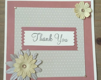 Hanmade Thank You card
