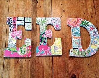 Custom Lilly Pulitzer Print Letter