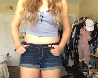 Low Rise Dark Wash Hollister Shorts