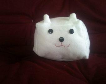 Polar bear cubic white plush