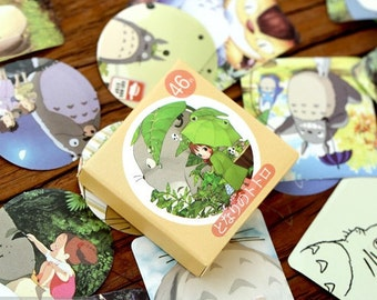 46 Piece Set Of My Neighbour Totoro Kawaii Stickers For Craft, Scrapbooking and Decoration