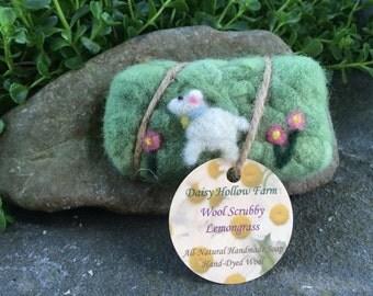 Happy Sheep Wool Scrubby