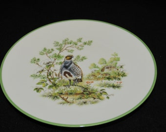 Vintage Bavaria Germany Quail Patterned Plate