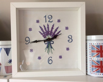 Lavender Time - Clock