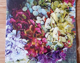Set of 4 Pretty Floral Wreath Paper Lunch Napkins Square Decoupage Crafts Dinner Party Collage Scrapbooking #019