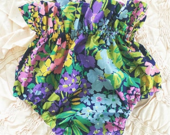 High waisted Navy Floral Bloomers