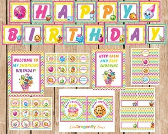 Shopkins Instant Download Party Package