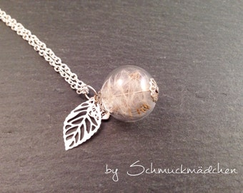 Flower necklace silver