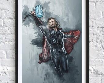 Avengers - Thor 'Watercolor' Digital Download