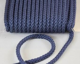 Cord 8mm blue grey