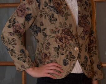 Floral print vintage/retro jacket