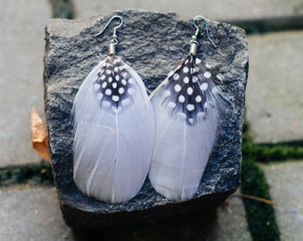 Feather Earrings Whyte Style Ethnic