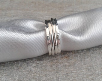 Sterling silver stacking rings, silver rings, simple silver rings, rings made to size,