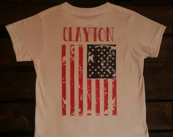 American Flag kids tshirt