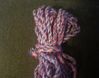 pink and blue cord