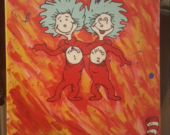 Dr Seuss ~ Thing 1 and Thing 2
