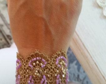 Hand Sewn Vintage Lace Bracelet