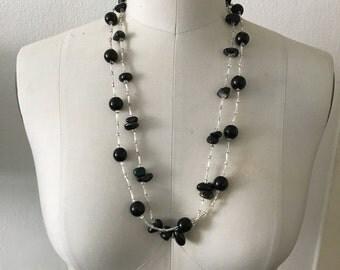 Bohemian Glass Bead Layered Necklace