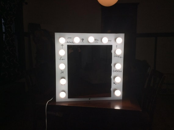 Vanity Mirror With Lights Etsy : Custom built Vanity Mirror with lights by VanityDesignByWalter