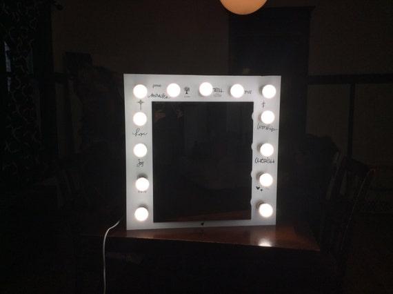Custom Built Vanity Mirror With Lights By VanityDesignByWalter