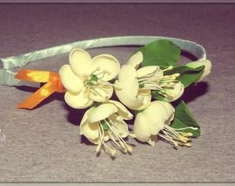 """Headband """"apple Flowers"""""""