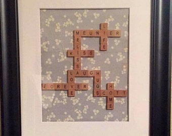 Personalised Scrabble Wall Decor