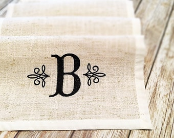Personalized Wedding Gift- Personalized Gift- Rustic Home Decor- Gift for Couple- Rustic Weddings- Rustic Table Decor- Burlap Table Runner