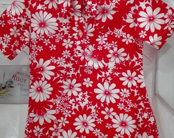 1970 child floral dress